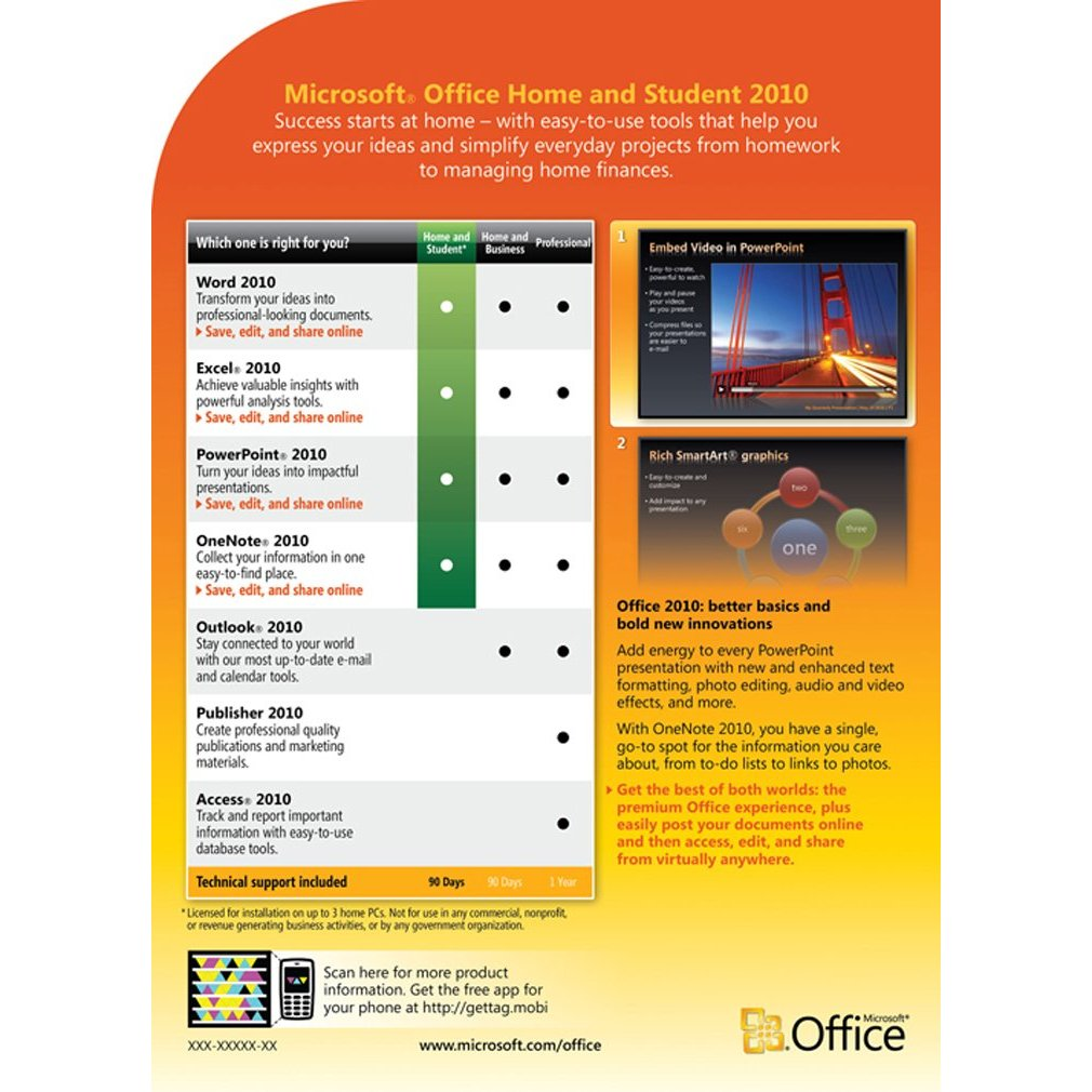 microsoft office 2010 home and student software